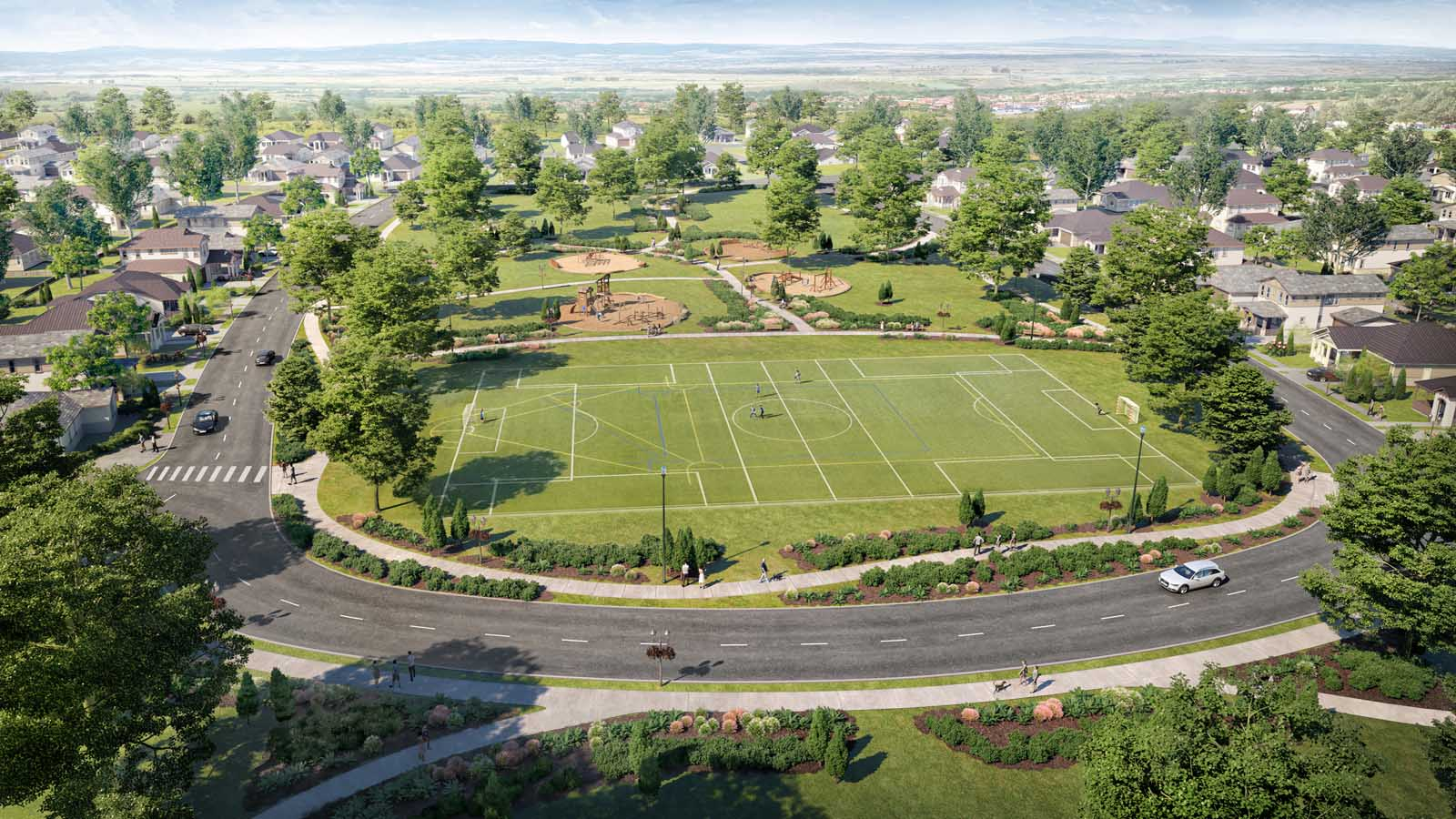 Rendering of soccer field | Winding Creek | New Homes in Roseville, CA | Anthem United